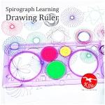 Spirograph Learning Drawing Ruler / Pembaris Bunga Graph 8839