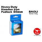 Baoli Lock Heavy Duty Hammer Iron Padlock 50mm
