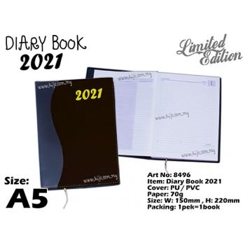 8496 Diary Book 2021 - A5