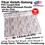 Alas lantai / Tikar Getah Gulung / PVC Carpet Roll / Alas Meja Khemah Plastik 1620 A-6279-4
