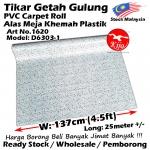 Alas lantai / Tikar Getah Gulung / PVC Carpet Roll / Alas Meja Khemah Plastik 1620 D6303-1