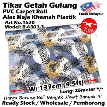 Alas lantai / Tikar Getah Gulung / PVC Carpet Roll / Alas Meja Khemah Plastik 1620 B-6301-3