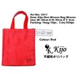 1811 Kijo Non Woven Bag Woven-Red