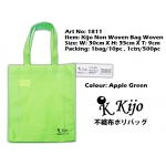 1811 Kijo Non Woven Bag Woven-Apple Green