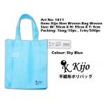 1811 Kijo Non Woven Bag Woven-Sky Blue