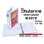 2212 Shuter A4size 1.5'' 4D PVC File