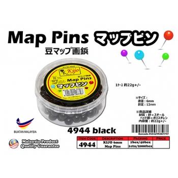 4944-black KIJO Black Map Pins