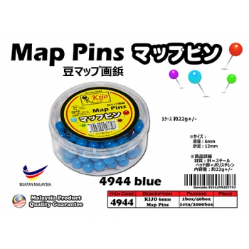4944-blue KIJO Blue Map Pins