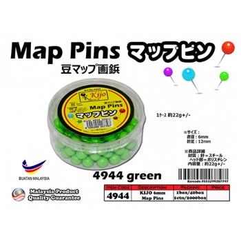 4944-green KIJO Green Map Pins