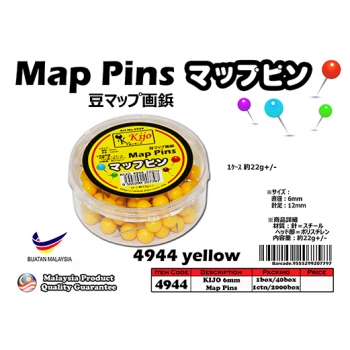 4944-yellow KIJO Yellow Map Pins