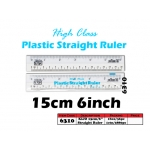 6310 Kijo 15cm Plastic Straight Ruler