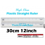 6311 Kijo 30cm Plastic Straight Ruler