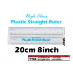 6735 Kijo 20cm Plastic Straight Ruler