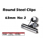 7235 63mm No:2 Round Steel Clips