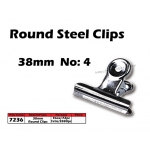 7236 38mm No:4 Round Steel Clips