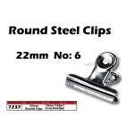 7237 22mm No:6 Round Steel Clips