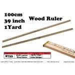 8733 KIJO 100cm,39inch,1Yard Wood Ruler