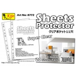8772 Kijo 0.06mm 11-hole Clear Sheets Protector