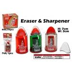 9385 Rencai RC-8081 Eraser & Sharpener
