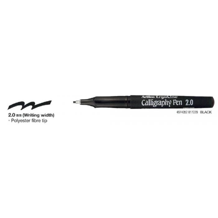 Artline Ergoline 2mm Calligraphy Pen Black