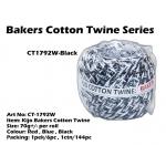 CT1792W-Kijo Bakers Cotton Twine Black