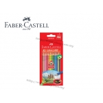 Faber Castell 12 Colour Grip Pencil