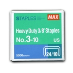 Max No: 3-10 Heavy Duty 3/8'' Staples