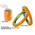 STT-940 Nissho 9mm PVC Bag Sealer Tape - Orange
