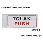 4867 Signs Sticker