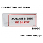 4867 Signs Sticker