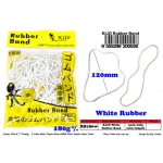 RB180W Kijo 180g Postman White Rubber Band