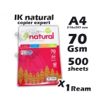 IK Natural Copier Expert A4 Paper Fast Copying Photostat Paper 210x297mm 70gsm 500sheets X 1Ream