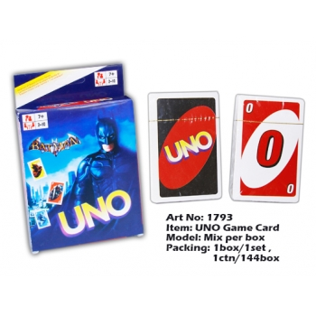 1793-17 UNO Game Card