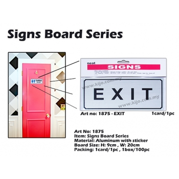 1875 Aluminum Signs Board with sticker - EXIT