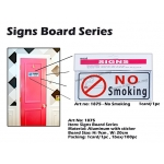 1875 Aluminum Signs Board with sticker - NO SMOKING
