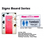 1875 Aluminum Signs Board with sticker - TOILET