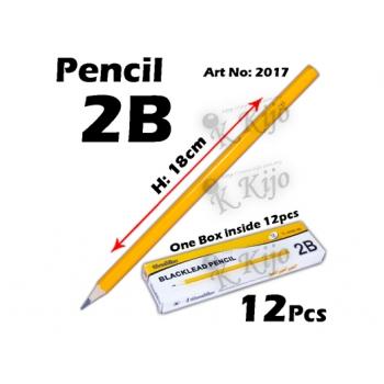 2017 2B Pencil 1box=12pcs