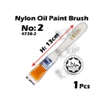 4738-2 Nylon Oil Paint Brush No2