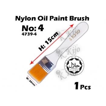 4739-4 Nylon Oil Paint Brush No4