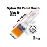 4740-6 Nylon Oil Paint Brush No6