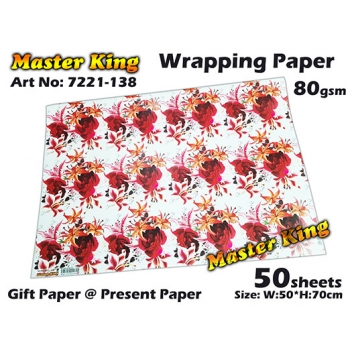 7221 Master King Wrapping Paper Design: 138