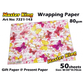 7221 Master King Wrapping Paper Design: 143