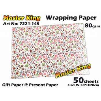 7221 Master King Wrapping Paper Design: 145
