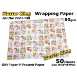 7221 Master King Wrapping Paper Design: 148
