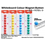 7985 Whiteboard Colour Magnet Button 20mm