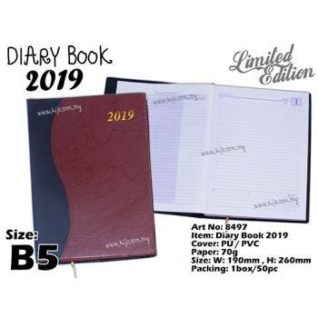 8497 Diary Book 2019 - Maroon