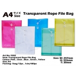 9382 Transparent Rope File Bag