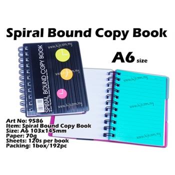 9586 Spiral Bound Copy Book - Black