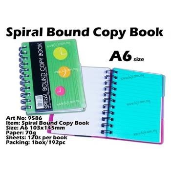 9586 Spiral Bound Copy Book - Green