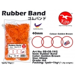 RB-GB-1KG Golden Brown Rubber Band 1KG
